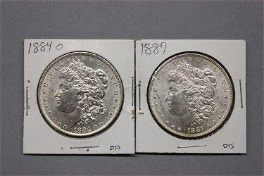 Two (2) U.S. Silver Morgan Dollars