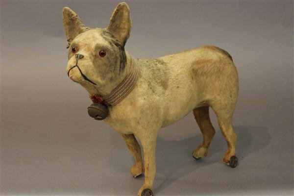 Victorian French Bull Dog Pull Toy
