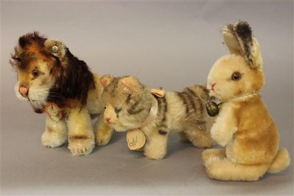 Three (3) Vintage Steiff Small Animals