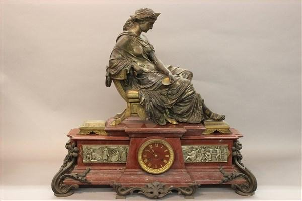 Emile Hebert Monumental French Bronze Ormolu Clock