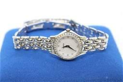 Womens 14k White Gold & Diamonds Movado Wristwatch