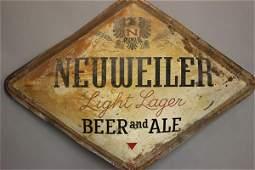 Neuweiler Light Lager German Beer Advertising Sign