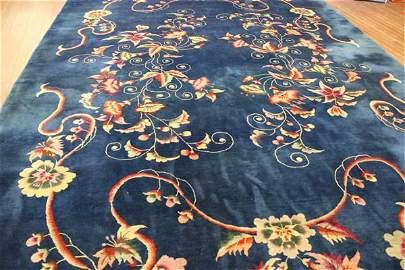 Chinese Blue Beijing Carpet 12ft X 8ft