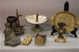 Antique And Vintage Metalware Desk Accessories