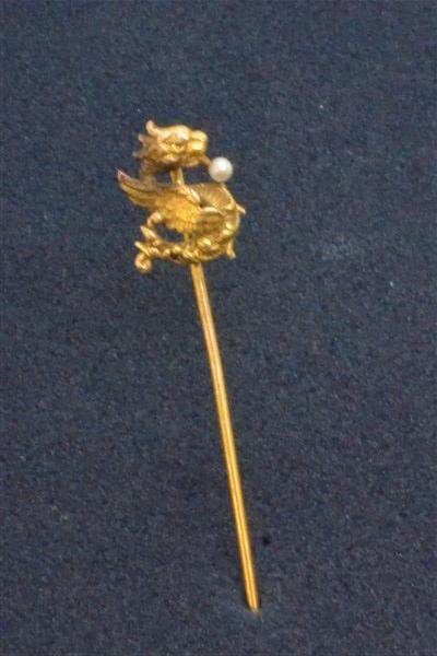 14k y.g. Victorian Dragon Stick Pin