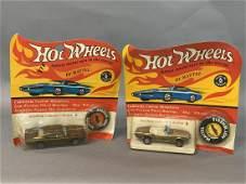 Two (2) Vintage Hot Wheels Redlines In Packages