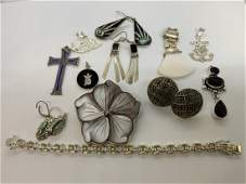 Estate Sterling Silver Jewelry Group