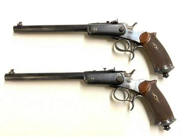 A Pair, Le Chobert French Target Pistols 44 Russian