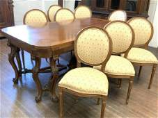 French Louis XVI Style Dining Table w/ Chairs