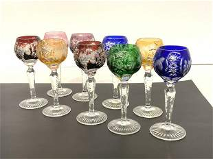 German Cut To Clear Glass Cordials