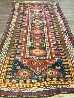 "Kazak Persian Rug  8ft 10"" X  4ft 4"""