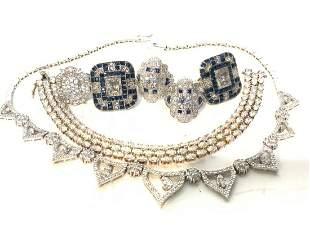Contemporay Glitz Sterling Silver Jewelry Lot