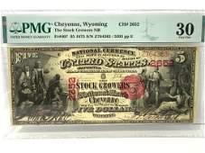 Scarce 1875 Cheyenne Wyoming Stock Growers $5