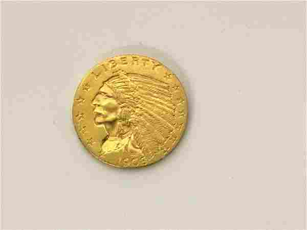 1908 $2 1/2 U.S. Indian Head Gold Coin
