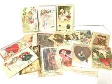 Seventy-Two (72) Vintage Valentine's Day Postcards