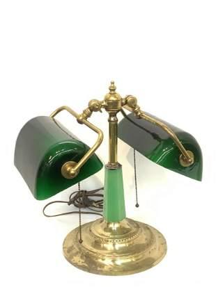 Vintage Brass Student's Lamp