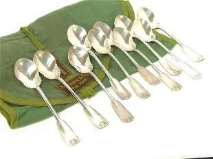 Ten (10) Tiffany & Co. Sterling Silver Palm Ice Cream