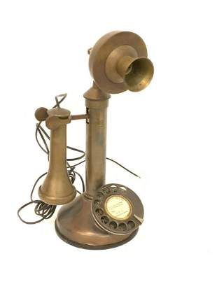 GEC made in England English brass candlestick telephone