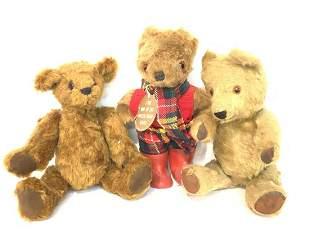Three (3) Vintage Teddy Bears