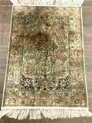 Small Persian Silk Carpet