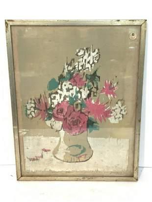 """George Speck woodblock print 18"""" x 13 3/4"""""""