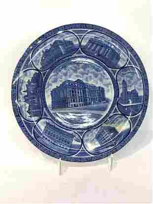 Newark New Jersey English Staffordshire Souvenir Plate