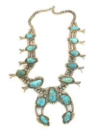 Vintage American Indian Squash Blossom Necklace