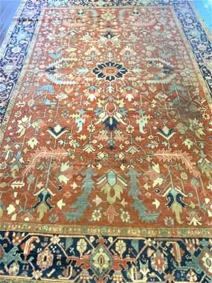 "Heriz Serapi Carpet 12ft 8"" X 9ft 4"""