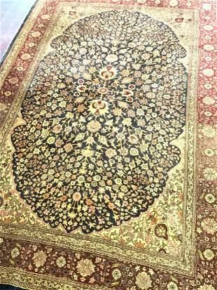 Persian Silk Tabriz Carpet