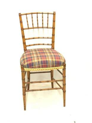 Bamboo Style Victorian Sewing Chair