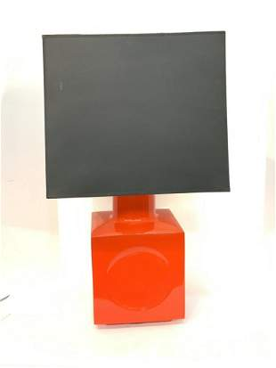 Red MCM Table Lamp
