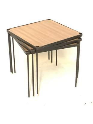 MCM Nesting Tables Or Stackable Shelf Unit
