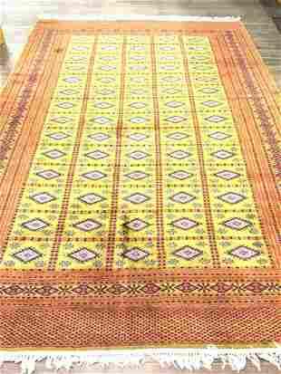 "Turkoman Carpet 9ft 8"" X 6ft 1"""