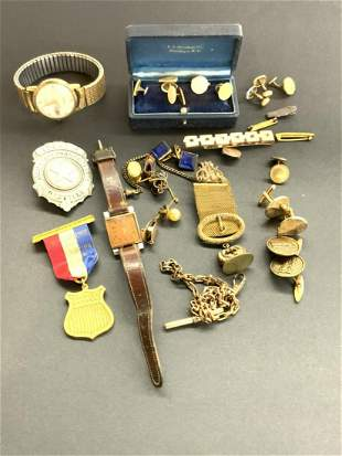 Compiled Estate Mens Jewelry And Misc. Lot
