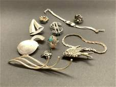 Estate Sterling Silver Jewelry Lot, RAY Jack