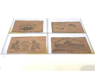 Vintage Leather And Copper Postcards