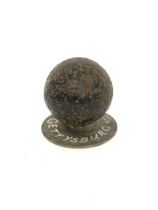 "Civil War Battle At Gettsyburg Cannon Ball 3"""