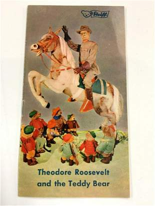 Rare Steiff Teddy Roosevelt Bear Catalog 1950s'