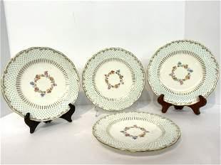Set of Four (4) Minton Porcelain Lunch Plates