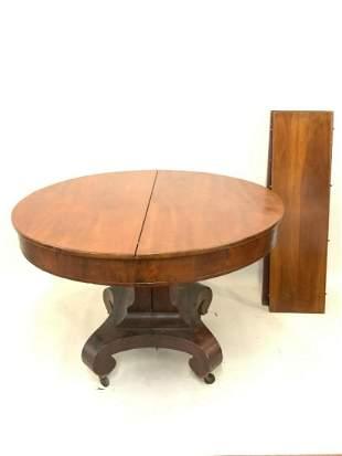 Empire Mahogany Dining Room Table