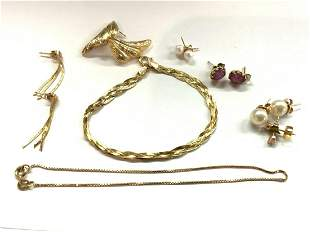 Estate Compiled Gold Jewelry Lot