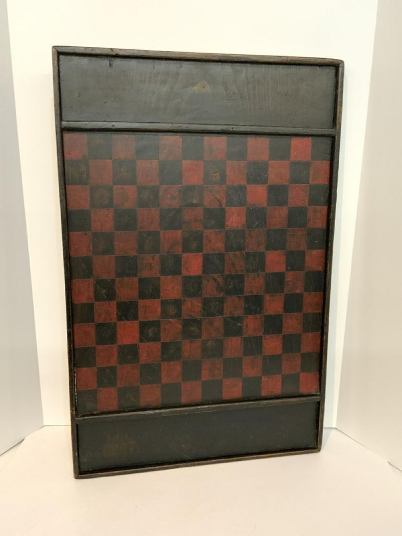 Antique Primitive Wood Checkerboard