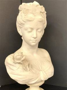 19th c. Italian Marble Female Bust