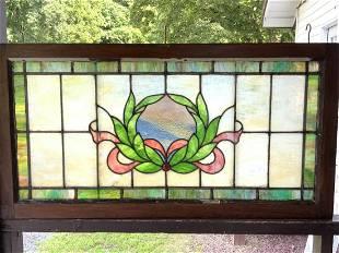 Early 20th c. Lead Glass Window