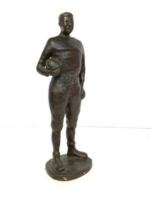 Early 20th c. Football Player Bronze, Gorham Foundry