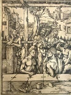 """Durer, Albrecht """"The Bath House"""""""