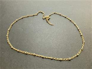 Vintage Solid 14k Gold Chain w/ White Gold Spacer Links