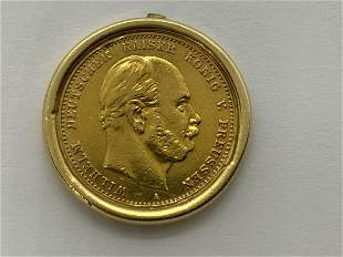 1879 Imperial German 10 Mark Gold Coin