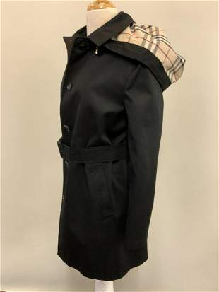 Women's Burberry Black Trench Coat Size 4
