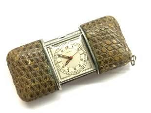 Movado Alligator Skin Travel Watch